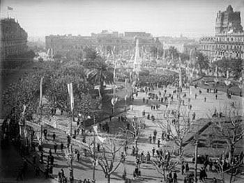 Vista de la Plaza de Mayo del ayer