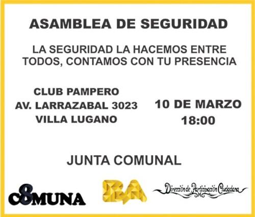 Asamblea de Seguridad en la Comuna 8