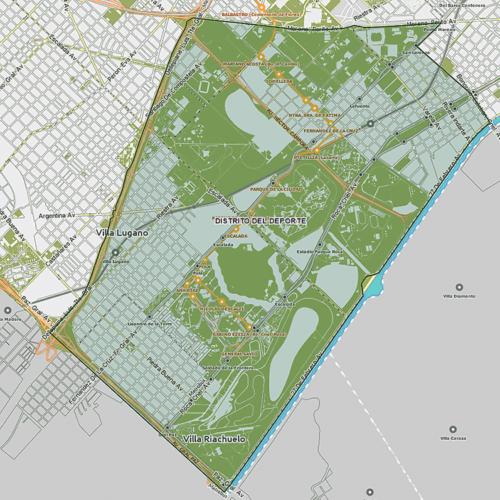 Distrito del Deporte - Mapa