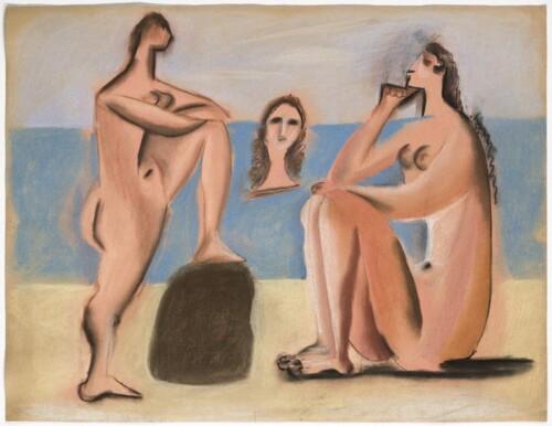 Tres bañistas, 20 de agosto de 1920 (Juan-les-Pins) - Musée National Picasso - Paris