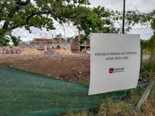 Una nueva Escuela Granja se construye en el predio del Autódromo